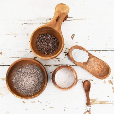 bamboo salt roasted several times as a dietary supplement
