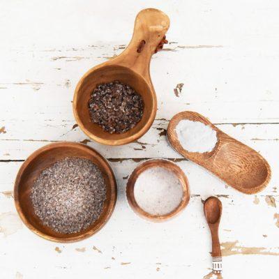 verschillende malen gebrand bamboe zout als voedingssupplement