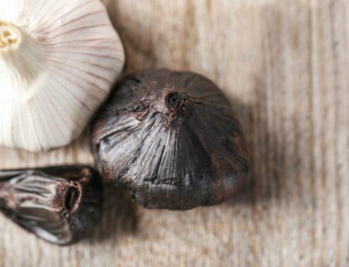 Zwarte knoflook of gefermenteerde knoflook